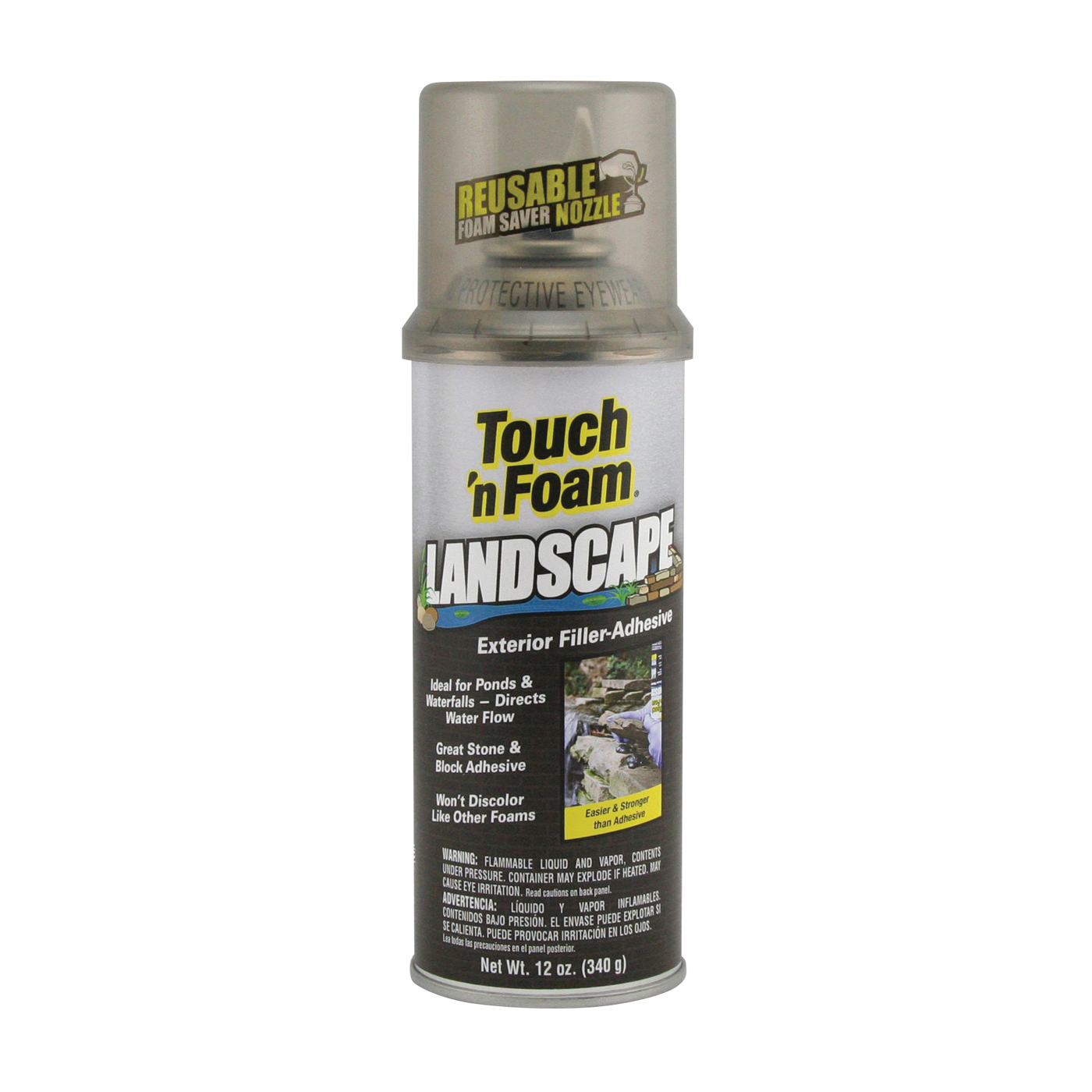 Picture of Touch 'n Foam 4001141212 Foam Sealant, Black, 12 oz Package, Can