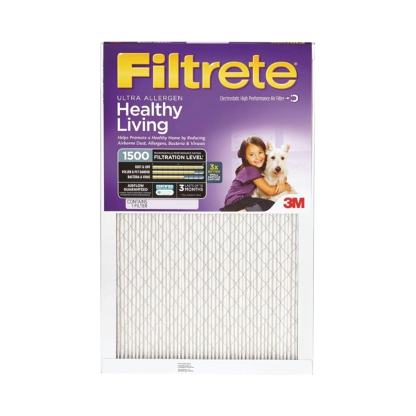 Picture of Filtrete 2002DC-6 Electrostatic Air Filter, 20 in L, 20 in W, 11 MERV, Fiber Filter Media
