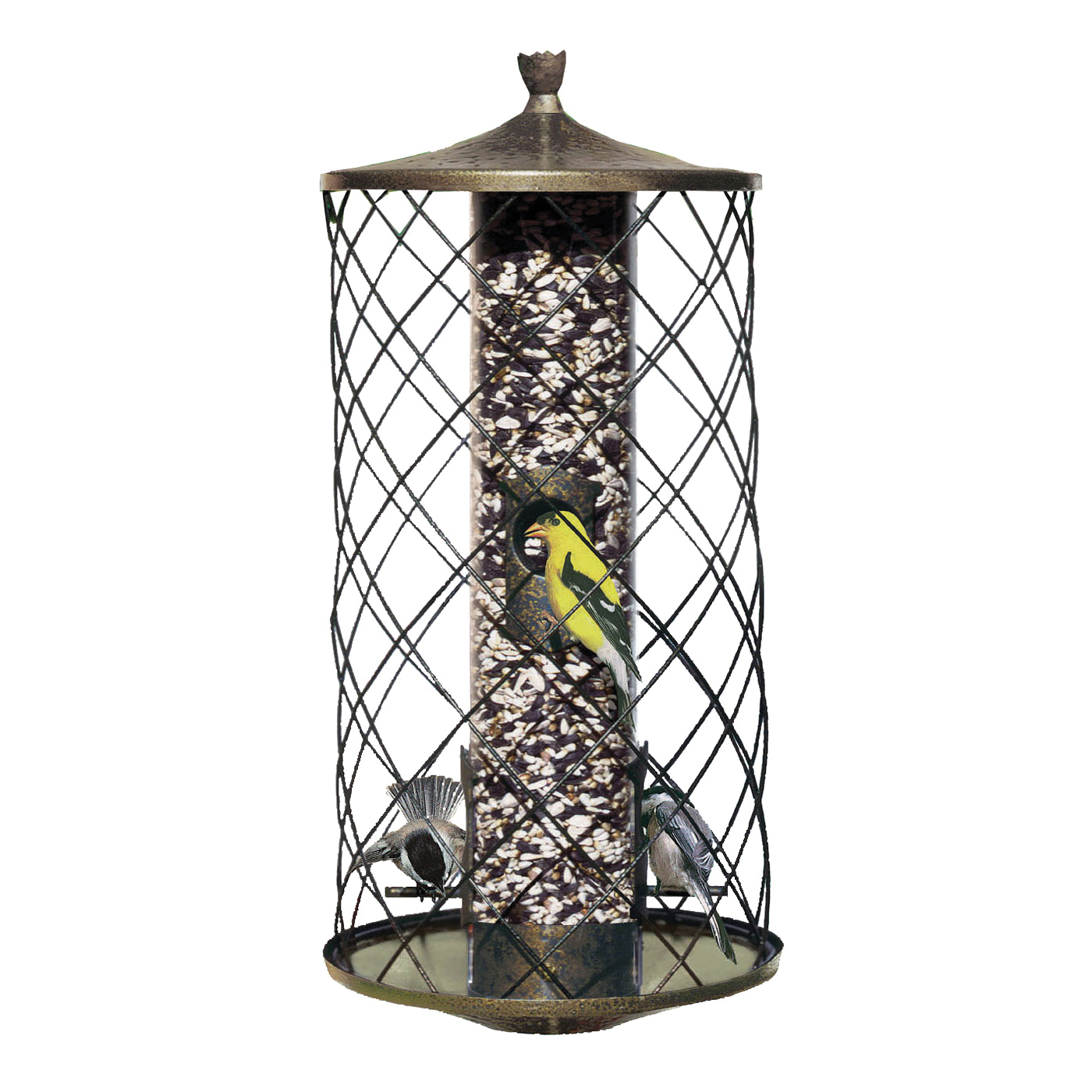Picture of Perky-Pet 735 Wild Bird Feeder, 15-1/2 in H, 3 lb, Plastic, Black, Hanging Mounting