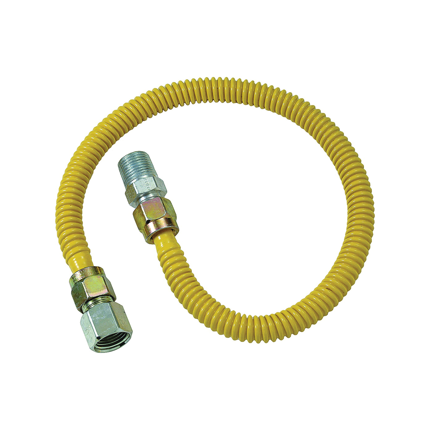 Picture of BrassCraft ProCoat CSSD54-36 Gas Connector, 1/2 in Inlet, 1/2 in Outlet, 36 in L