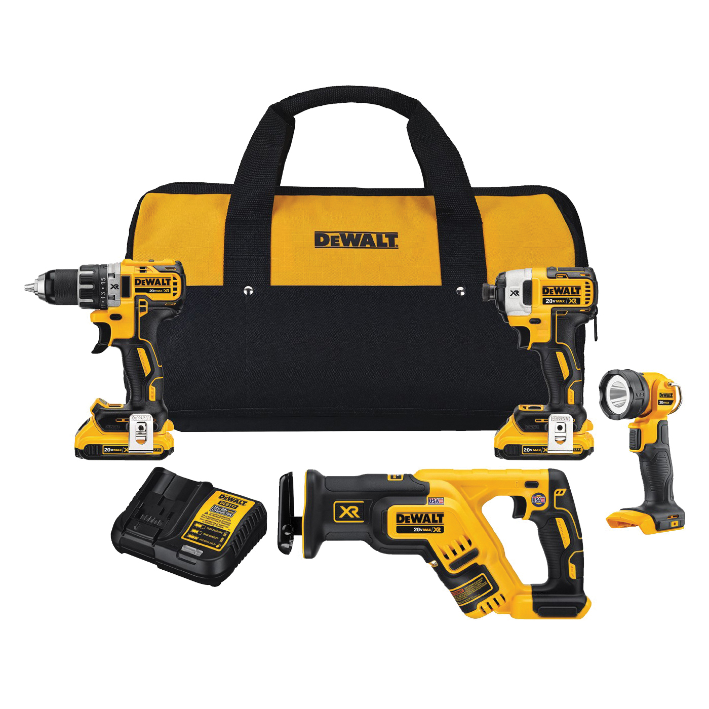 Picture of DeWALT DCK484D2 Combo Kit, Battery Included: Yes