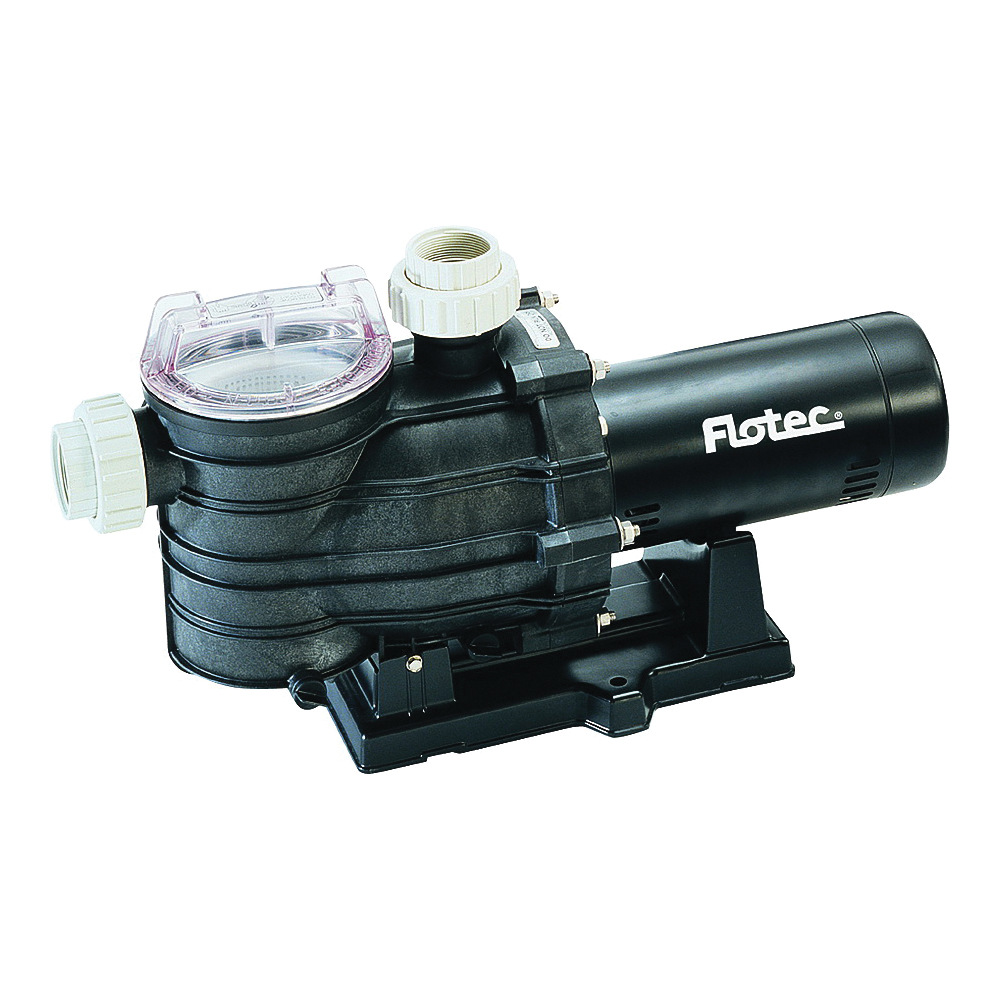 Picture of Flotec AT251501 Pool Pump with Integral Trap, 1-Phase, 13.4 A, 115/230 V, 1.5 hp, 2 in Outlet, 112 gpm
