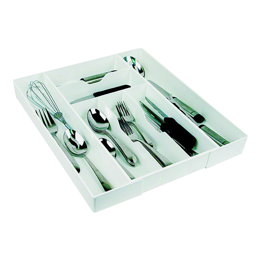 Picture of Dial Industries 02506 Cutlery Expand-A-Drawer, 9-1/2 in W, 18 in D, White