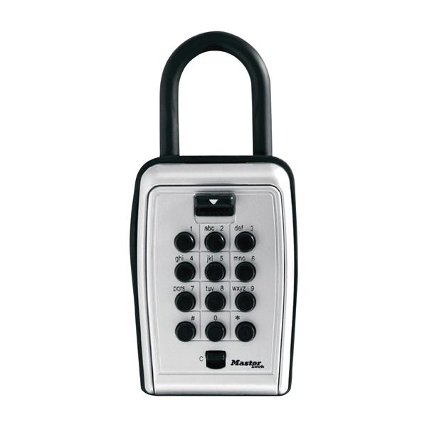 Picture of Master Lock 5422D Lock Box, Combination Lock, Metal, Black/Silver