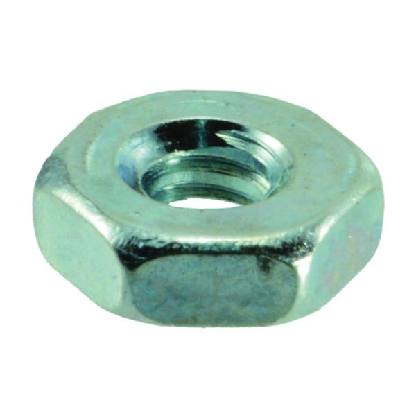 Picture of MIDWEST FASTENER 03748 Hex Machine Nut, Coarse Thread, #6-32 Thread, Zinc, Zinc