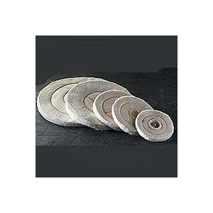 Picture of Dico 527-60-6 Buffing Wheel, 6 in Dia, 1/2 in Thick, Flannel Cotton