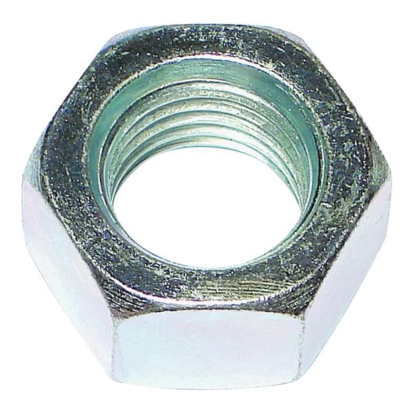 Picture of MIDWEST FASTENER 03673 Hex Nut, Coarse Thread, 7/16-14 in Thread, Zinc, Zinc, 2 Grade