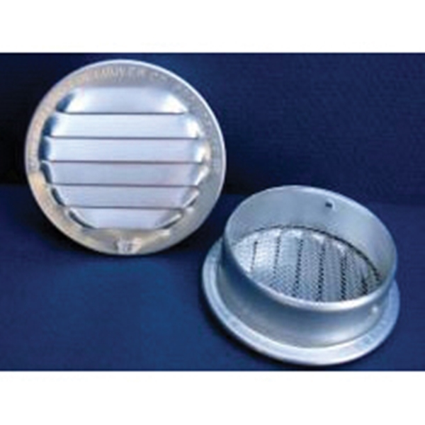 Picture of Maurice Franklin RL-100 Series 6 RL-100 Louver, 6.688 in L, 6.688 in W, Round, Aluminum, Mill