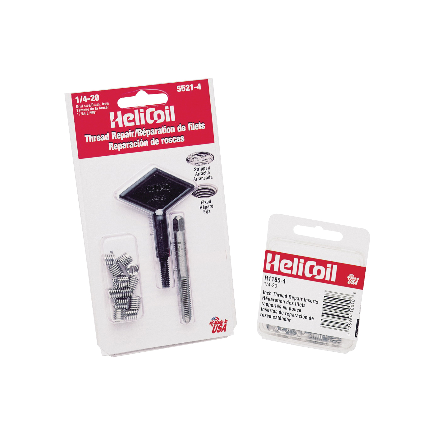 Picture of Heli-Coil 5521-4 Thread Repair Kit, 17/64 in, 3/8 in L, Stainless Steel