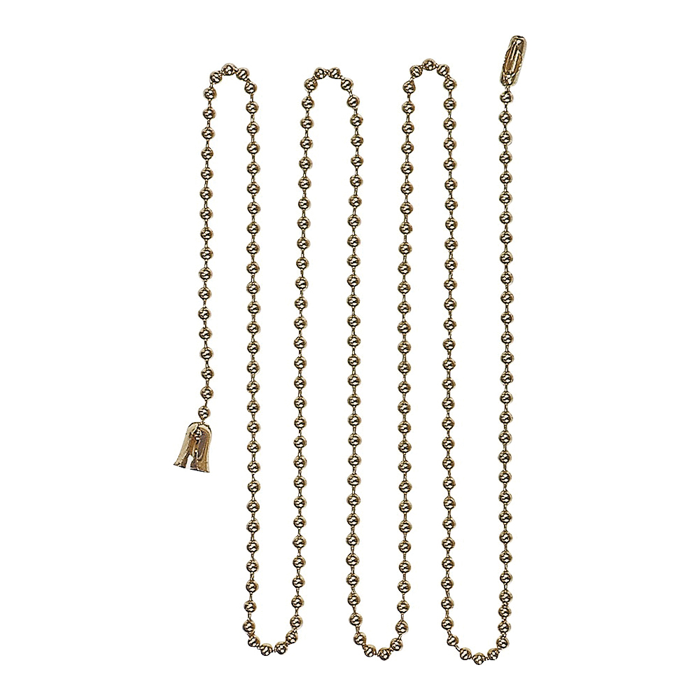 Picture of Eaton Wiring Devices BP331BB Ball Chain with End Bell and Connector, #6 Chain, 3 ft L Chain, Brass