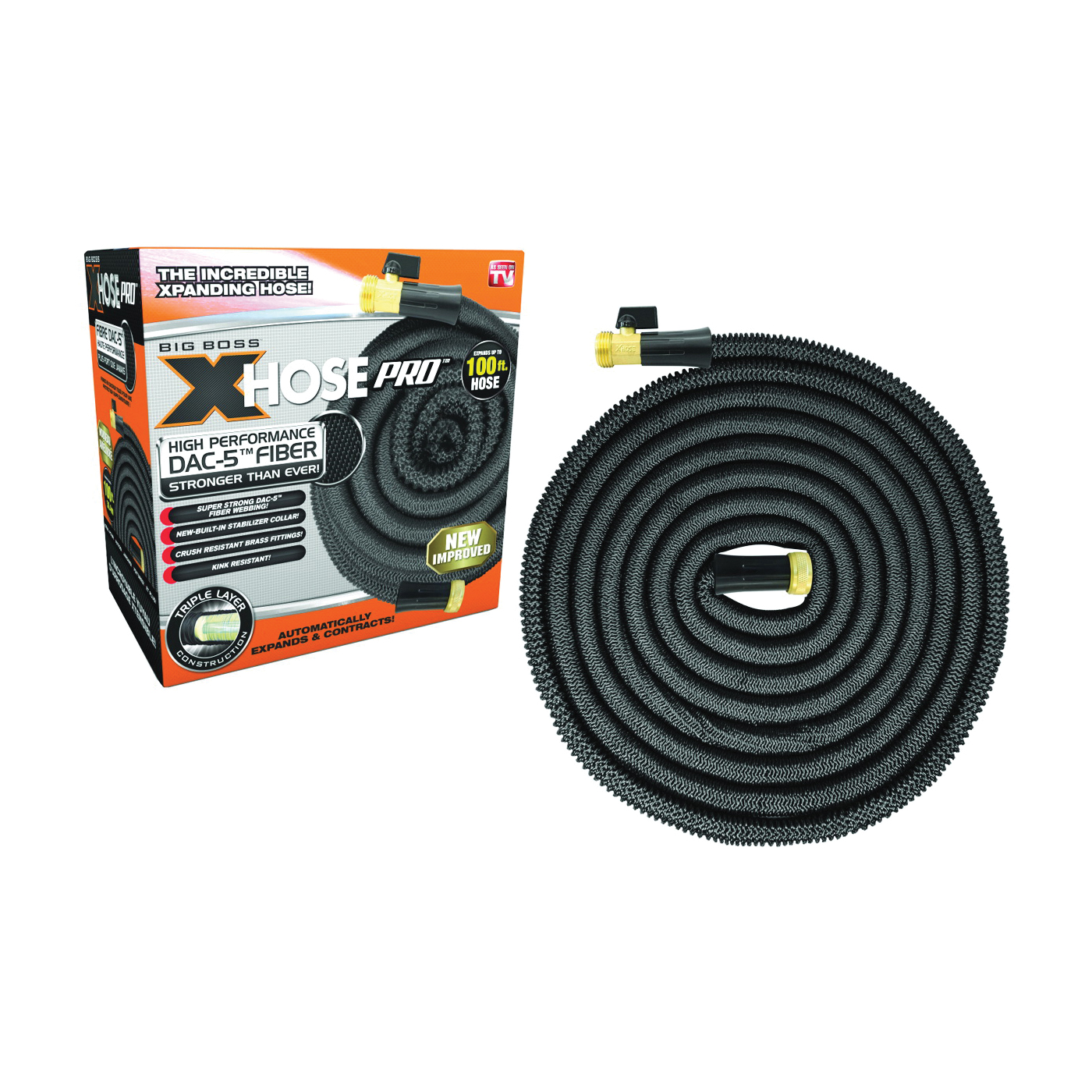 Picture of E.MISHAN & SONS 1258 Expandable Hose, 100 ft L