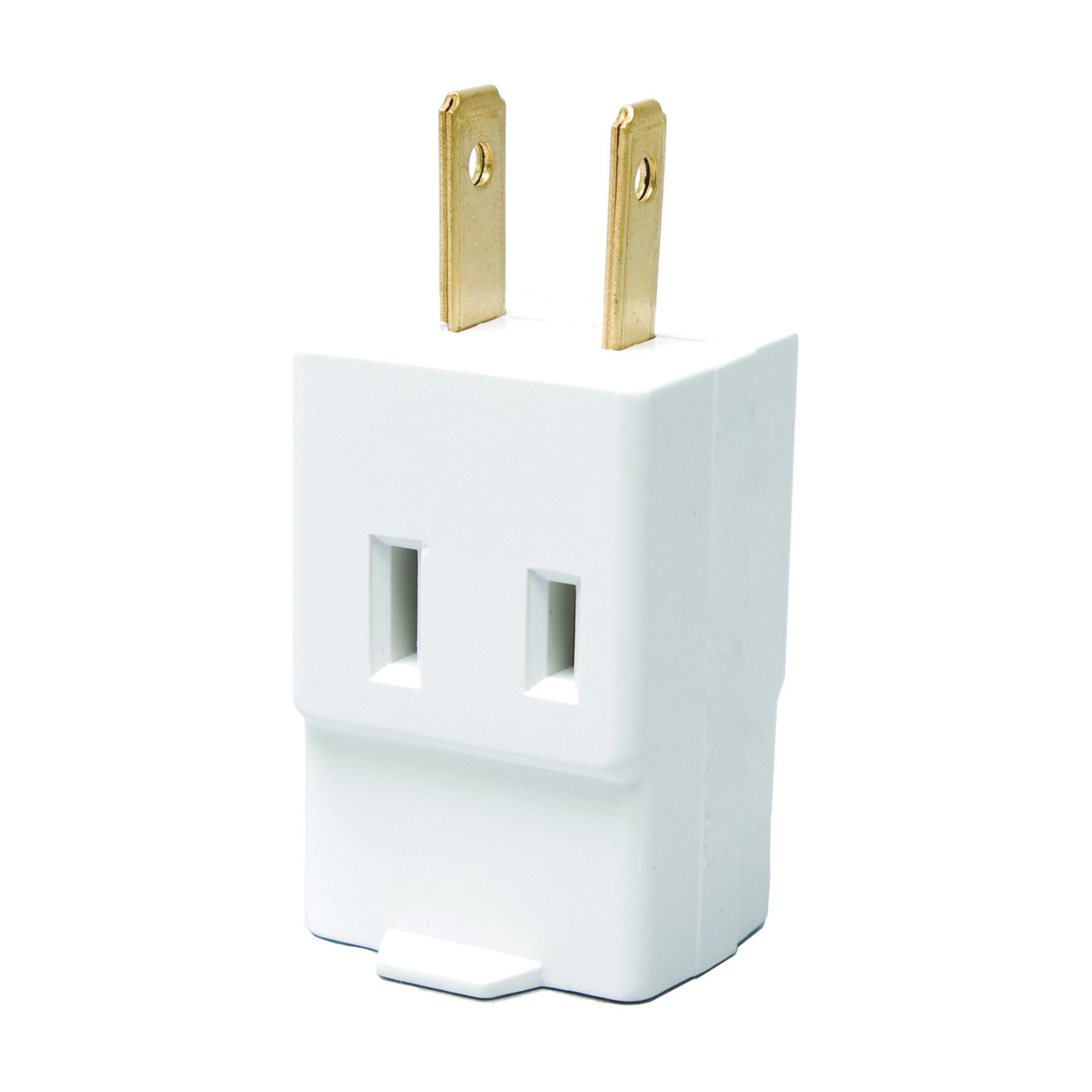 Picture of Eaton Wiring Devices BP4400W Outlet Cube Tap, 2-Pole, 15 A, 125 V, 3-Outlet, NEMA: 1-15R, White