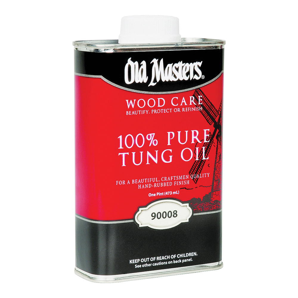 Picture of Old Masters 90008 Tung Oil, Liquid, 1 pt, Can