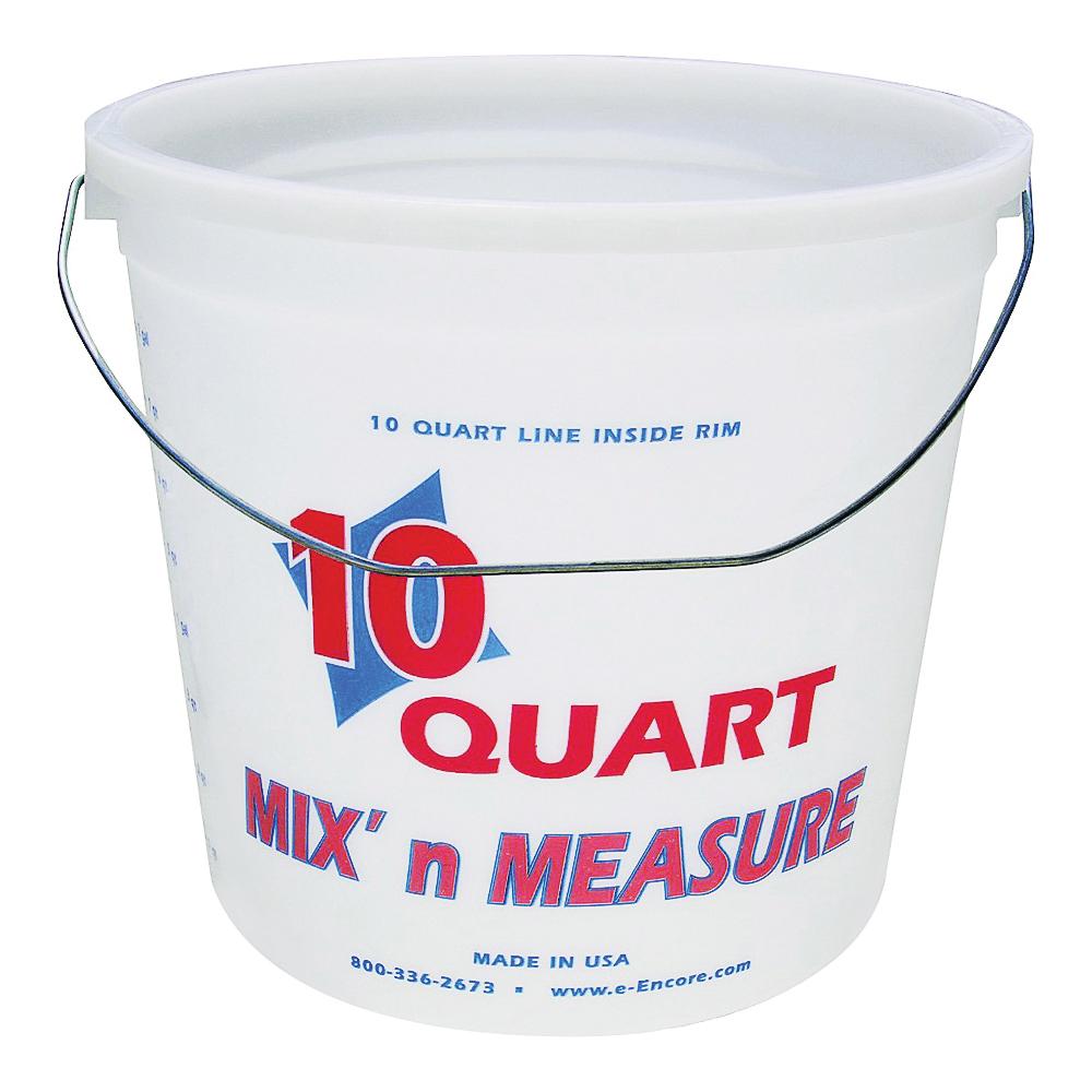 Picture of ENCORE Plastics 20325 Paint Container, 10 qt Capacity, HDPE, Natural