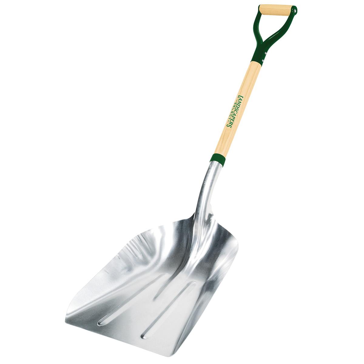 Picture of Landscapers Select 34592 Scoop Shovel, Aluminum Blade, Wood Handle, D-Shaped Handle