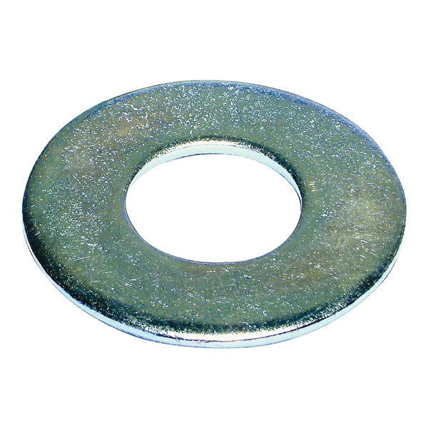 Picture of MIDWEST FASTENER 03838 Flat Washer, 3/8 in ID, Zinc, Zinc, USS Grade, 301, Pack