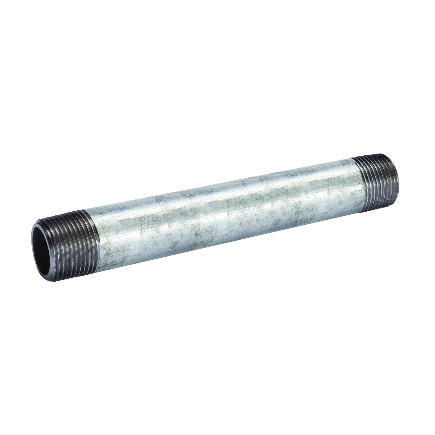 Picture of B & K 571-080BC Pipe Nipple, 4 in, Threaded, Galvanized Steel, SCH 40 Schedule, 8 in L