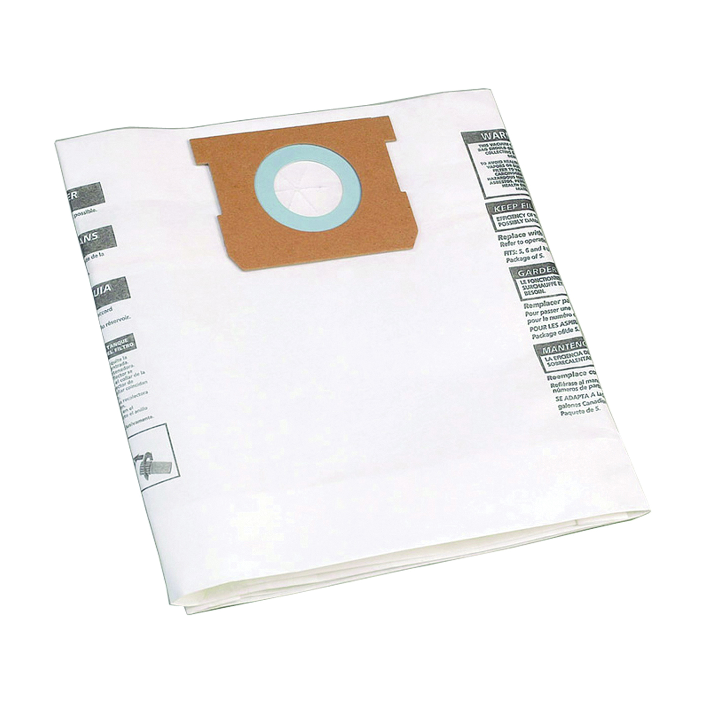 Picture of Shop-Vac 9066700 Filter Bag, 1 to 1.5 gal Capacity