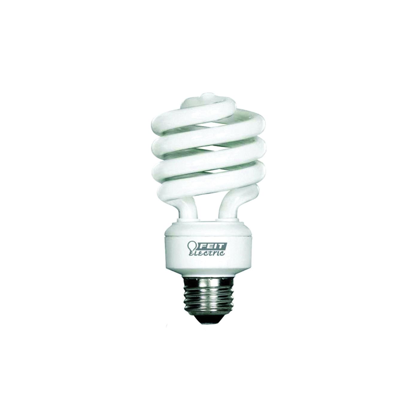 Picture of Feit Electric BPESL23TM Compact Fluorescent Light, 23 W, Spiral Lamp, Medium E26 Lamp Base, 1600 Lumens