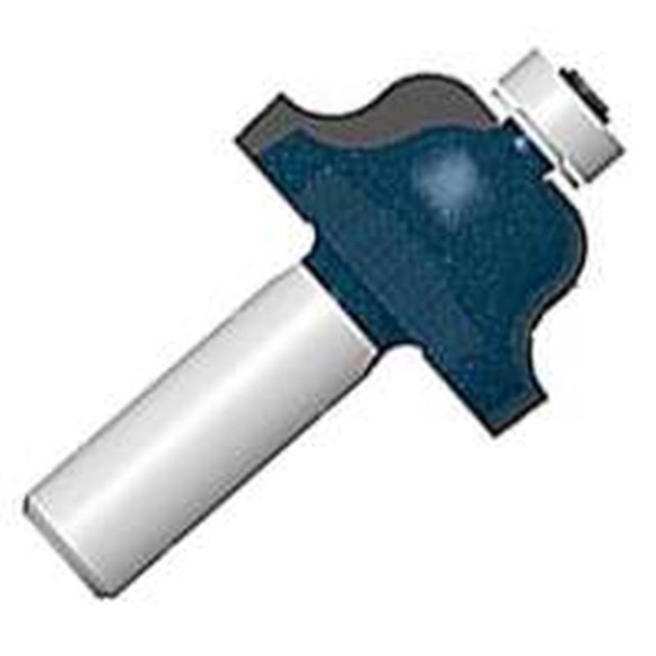Picture of Bosch 85270MC Router Bit, 1 in Dia Cutter, 2-1/8 in OAL, 1/4 in Dia Shank, 2 -Cutter, Steel