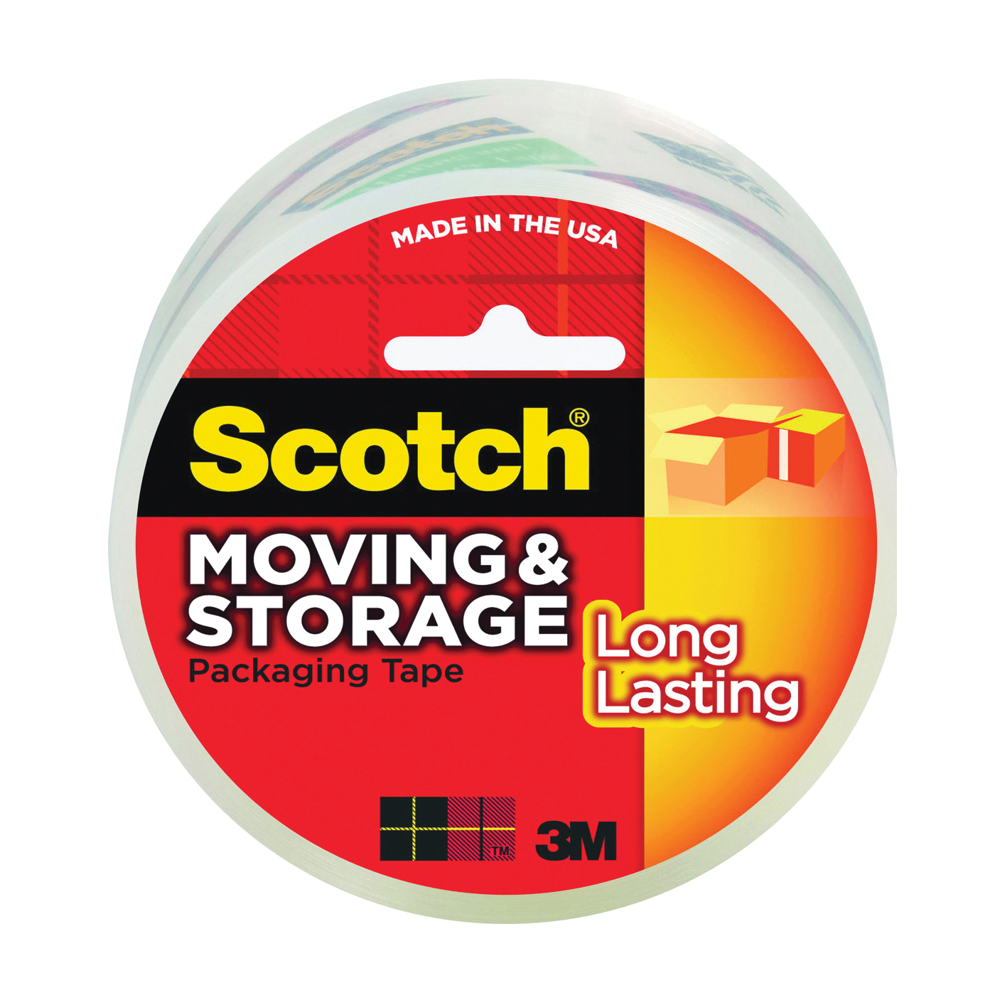 Picture of Scotch 3650 Packaging Tape, 54.6 yd L, 1.88 in W, Polypropylene Backing, Clear