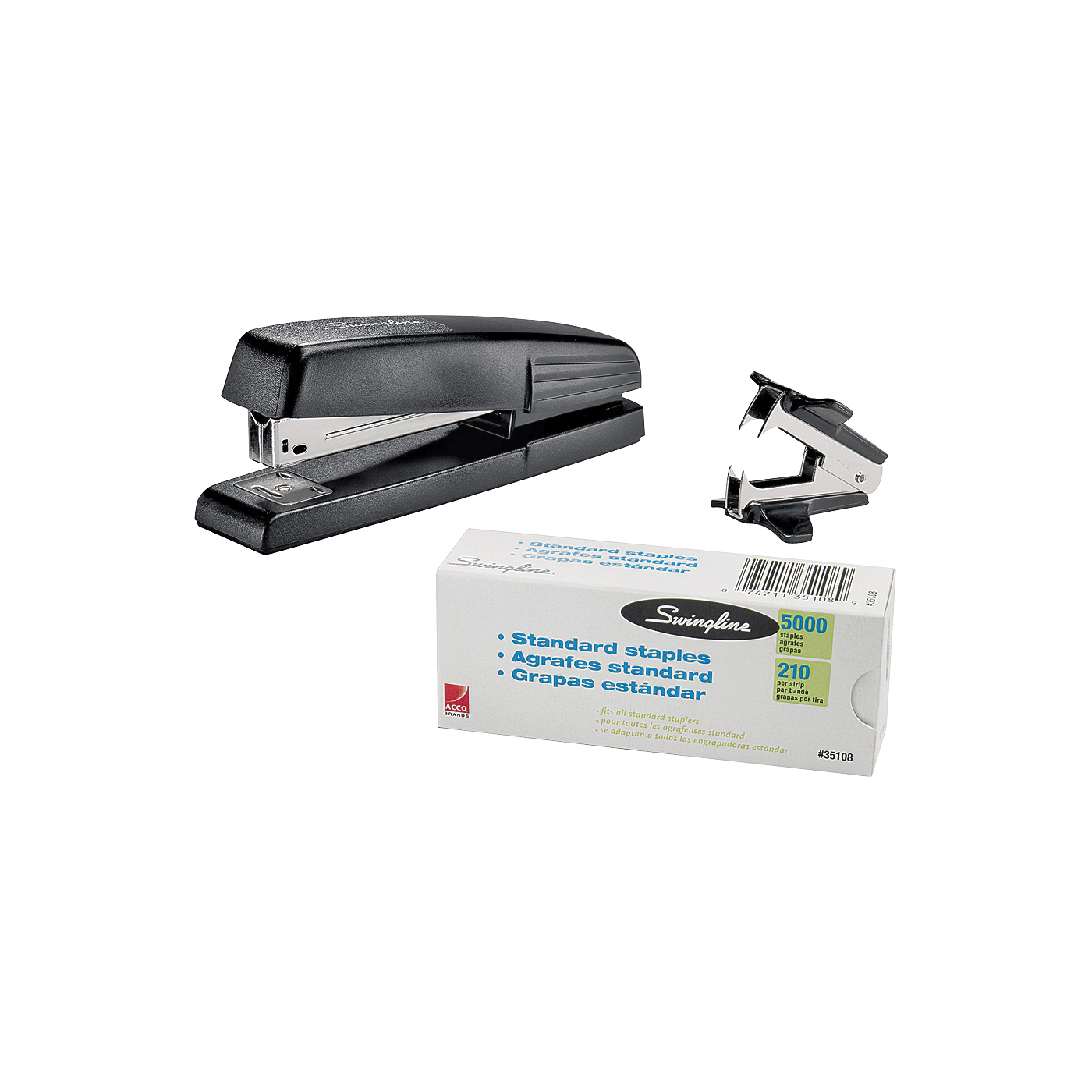 Picture of Swingline S7054551 Standard Stapler Value Pack, 15 Sheet, 210 Staple