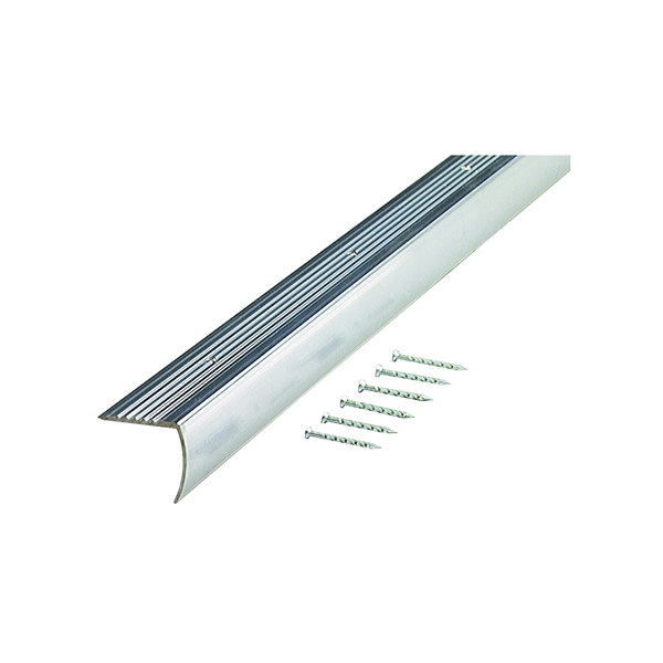Picture of M-D 66035 Stair Edging, 36 in L, 1.28 in W, Aluminum
