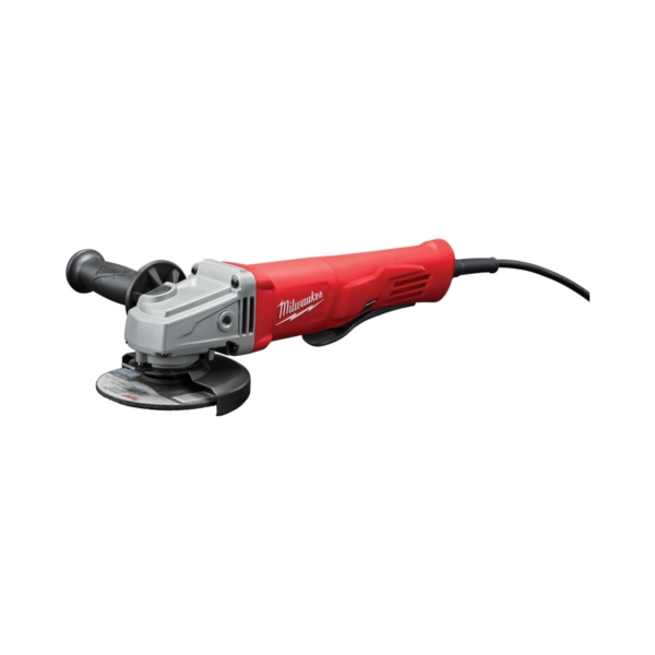 Picture of Milwaukee 6142-30 Angle Grinder with Lock-On Paddle Switch, 120 VAC, 11 A, 1400 W, 5/8-11 Spindle, 11,000 rpm Speed