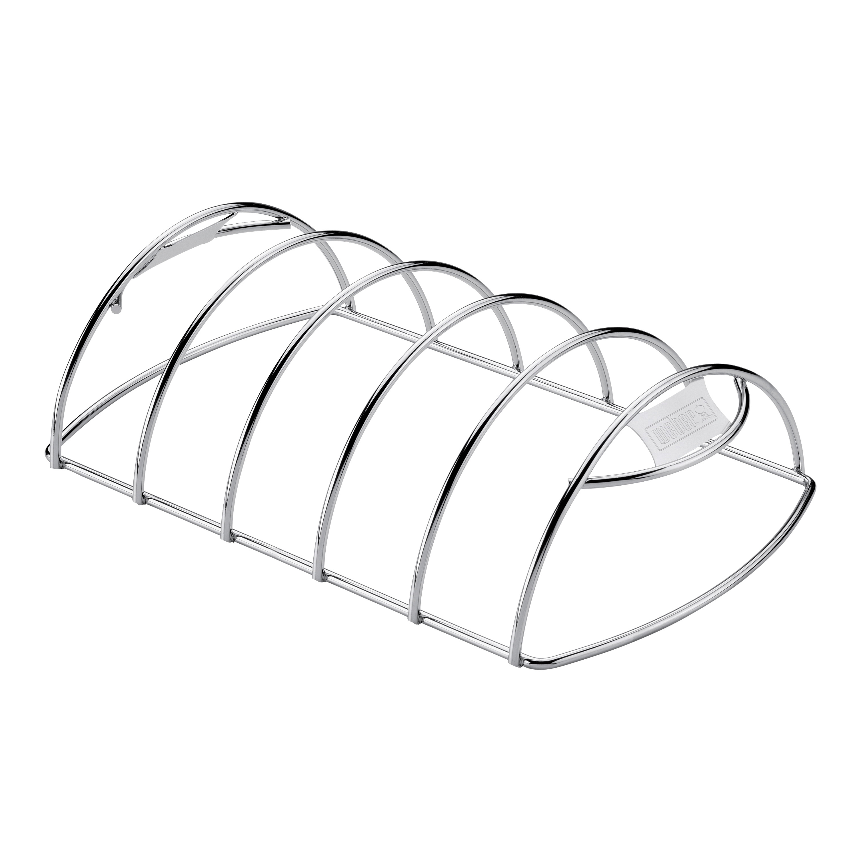 Picture of Weber 6605 Rib Rack, 13-13/64 in L, 8 in W, Steel, Chrome