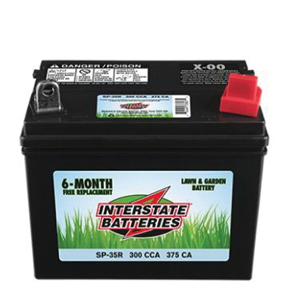 Picture of INTERSTATE BATTERIES SP-35R Lawn and Garden Battery, Lead-Acid