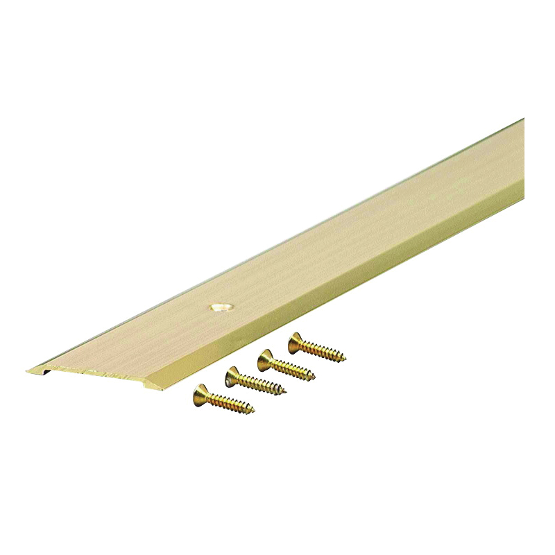 Picture of M-D 09563 Saddle Threshold, 36 in L, 1-3/4 in W, Aluminum, Bright Gold