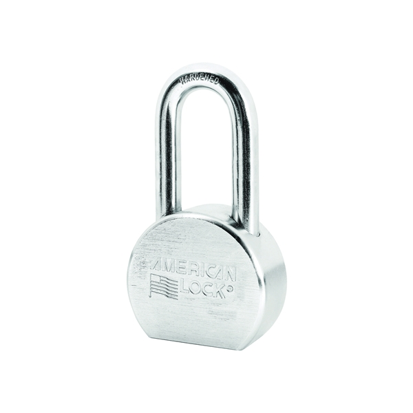 Picture of American Lock A701KA#27244 Padlock, Keyed Alike Key, 7/16 in Dia Shackle, 2 in H Shackle, Steel Body, Chrome