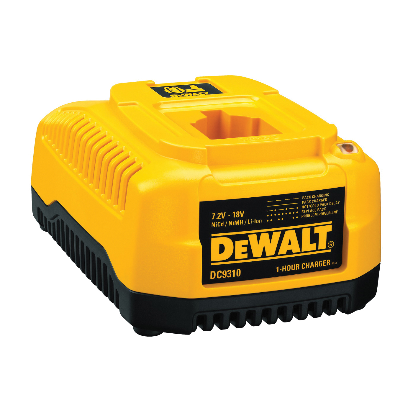 Picture of DeWALT DC9310 Fast Battery Charger, 120 V Output, 2 Ah, 1 hr Charge, 3 -Battery, Battery Included: No