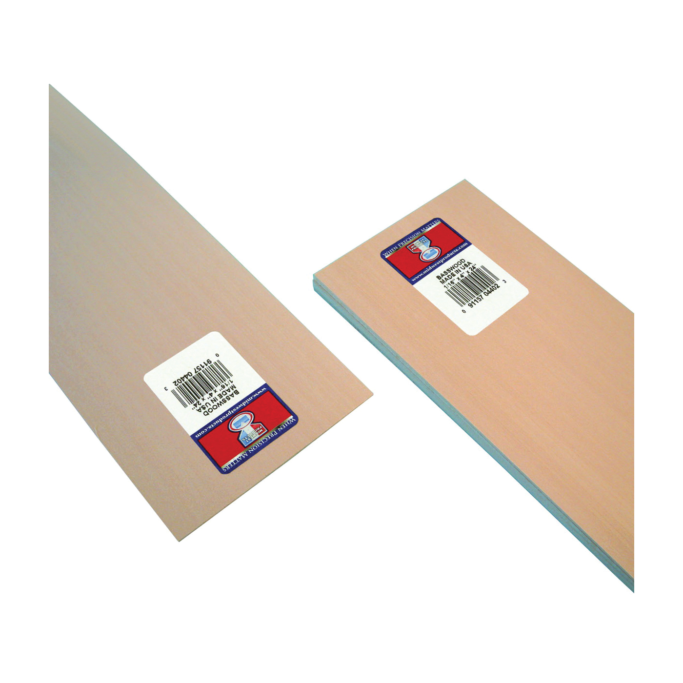 Picture of MIDWEST PRODUCTS 4402 Basswood Sheet, 24 in L, 4 in W, Basswood