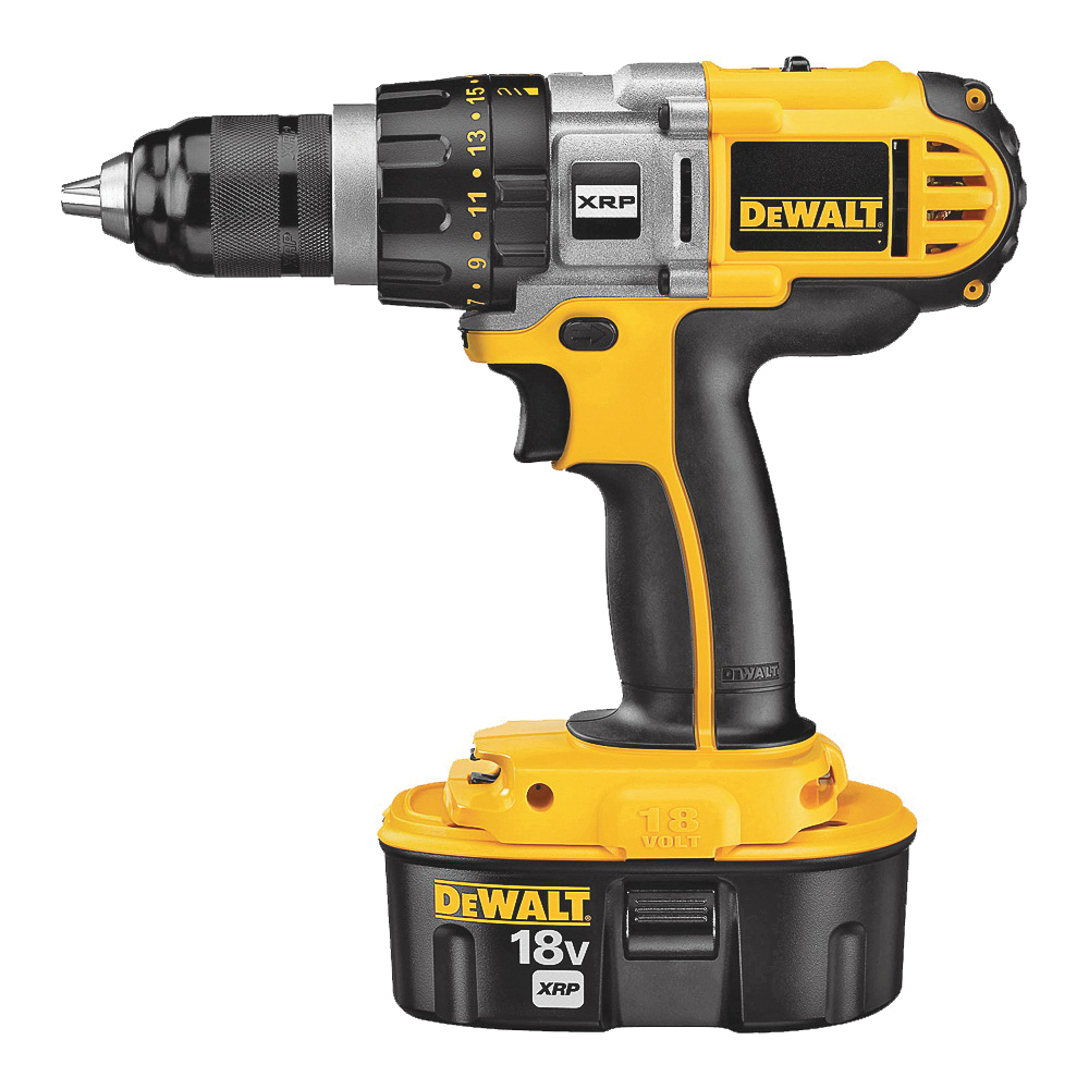 Picture of DeWALT DCD940KX Drill/Driver Kit, Kit, 18 V Battery, 1/2 in Chuck, Ratcheting, Single Sleeve Chuck