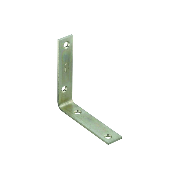 Picture of National Hardware 115BC Series N220-145 Corner Brace, 4 in L, 7/8 in W, Steel, Zinc, 0.12 Thick Material