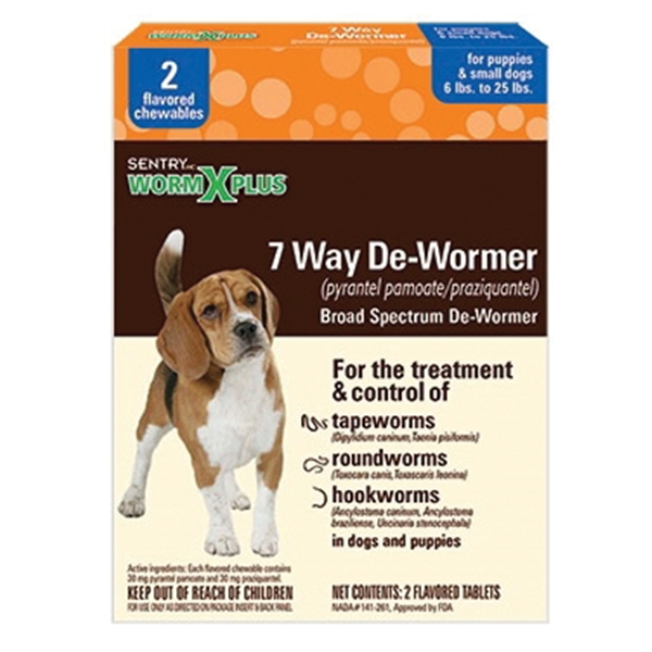 Picture of SENTRY 3930 De-Wormer, Tablet, 2 Count Package