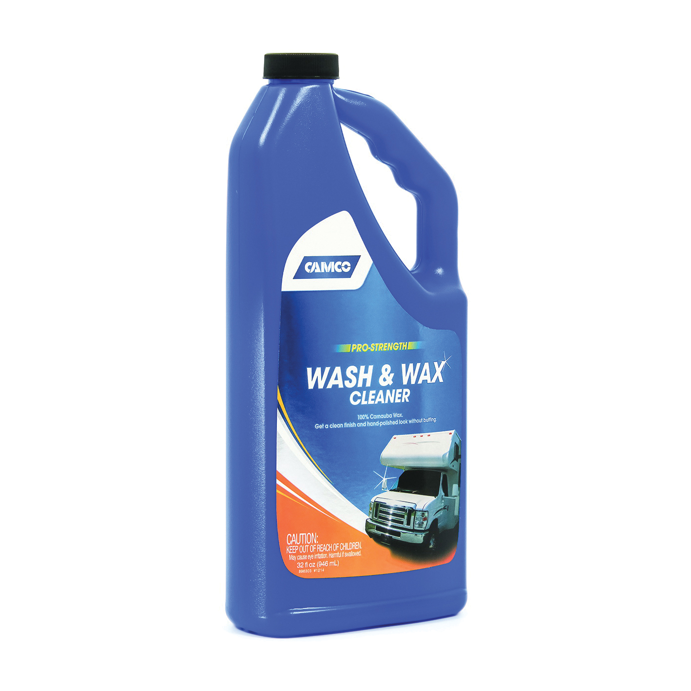 Picture of CAMCO 40493 Wash and Wax Cleaner, 32 oz Package, Bottle, Liquid, Fresh Fragrance