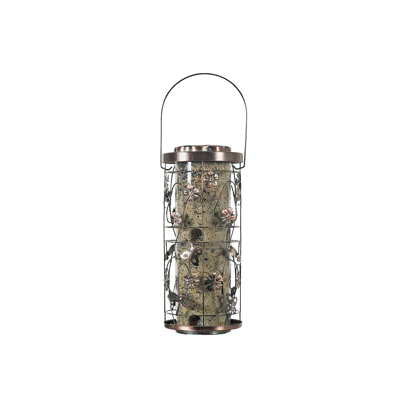 Picture of Perky-Pet 570 Wild Bird Feeder, 4 lb, Antique Copper, Hanging Mounting