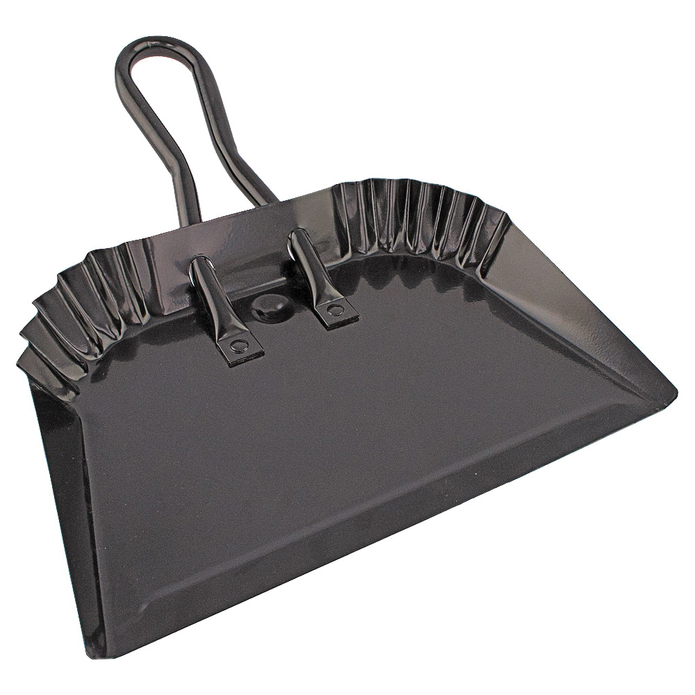 Picture of Simple Spaces DL-5004 Dustpan, 12 in W, Steel, Black, Powder-Coated