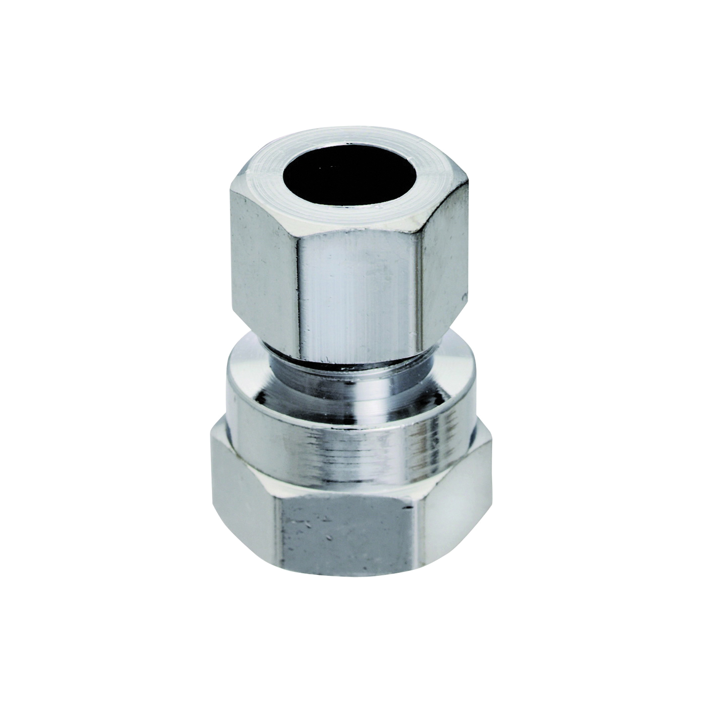 Picture of Plumb Pak PP73PCLF Straight Adapter, 1/2 x 3/8 in, FIP x Compression, Chrome