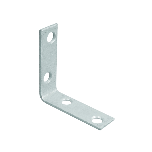 Picture of National Hardware 115BC Series N113-324 Corner Brace, 2 in L, 5/8 in W, Galvanized Steel, 0.08 Thick Material