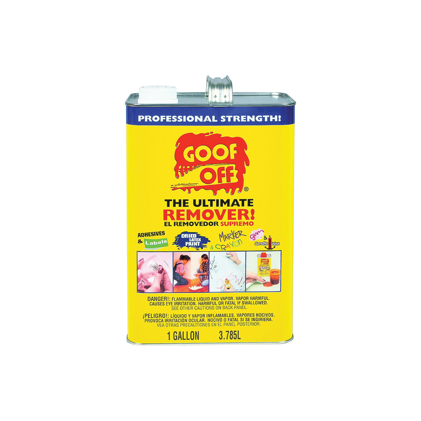 Picture of Goof Off FG657 Latex Paint Remover, Liquid, White, 1 gal, Can