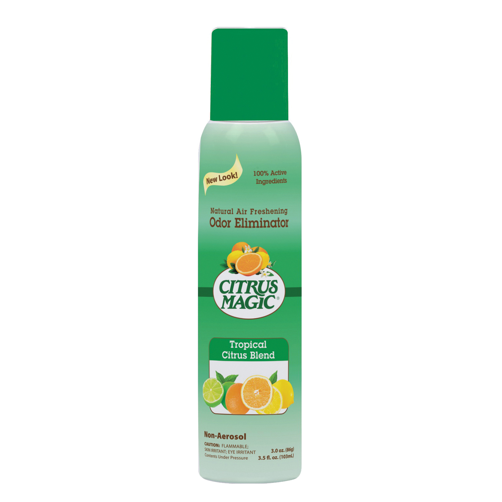 Picture of Citrus Magic 612172867 Air Freshener, 3 oz Package, Bottle, Tropical Citrus Blend