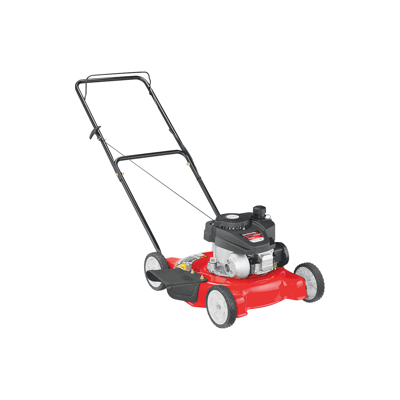 Picture of Yard Machines 11A-02SB700 Push Mower, 140 cc Engine Displacement, Gasoline, 20 in W Cutting, Recoil Start