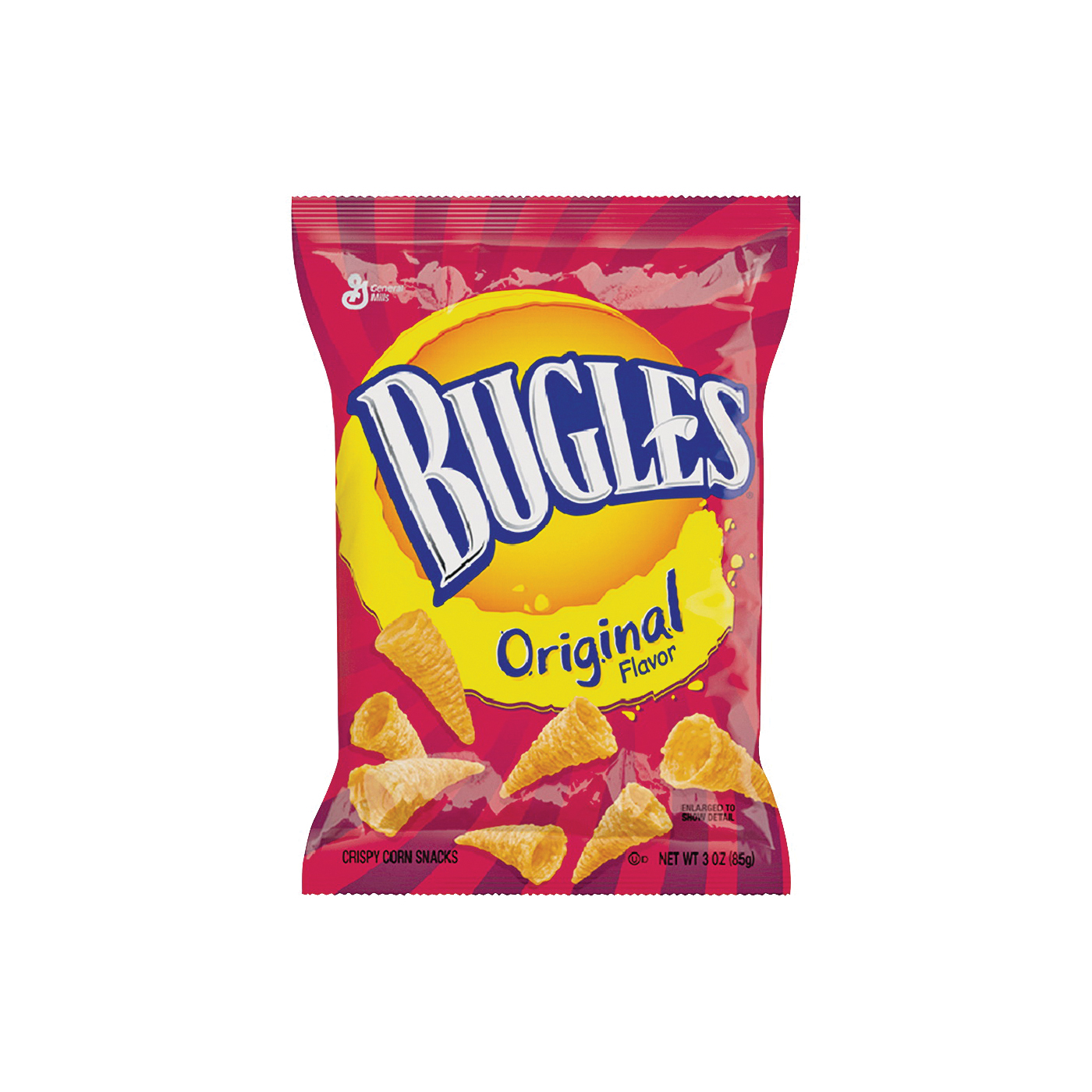 Picture of Bugles BUGLES6 Corn Snack, Original Flavor, 3 oz Package