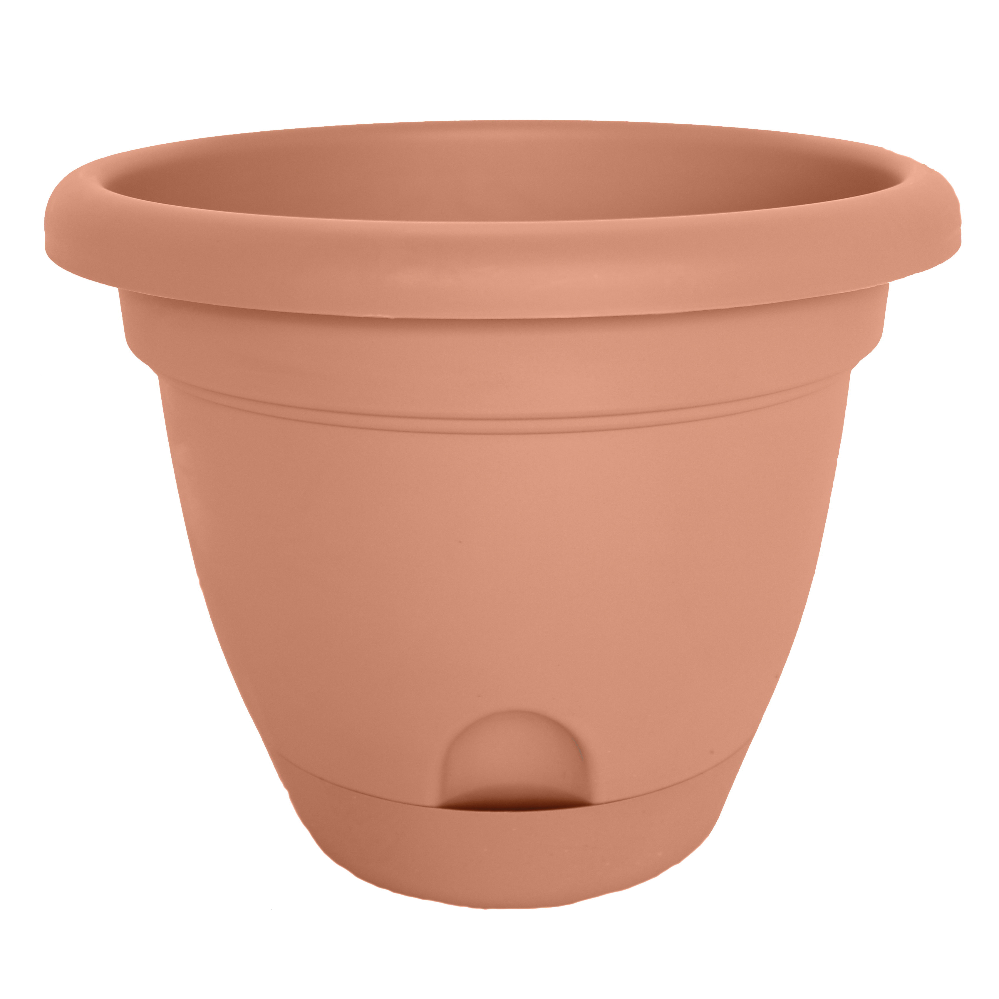 Picture of Bloem Lucca LP1246 Planter, 10.8 in W, Round, Polypropylene, Terracotta