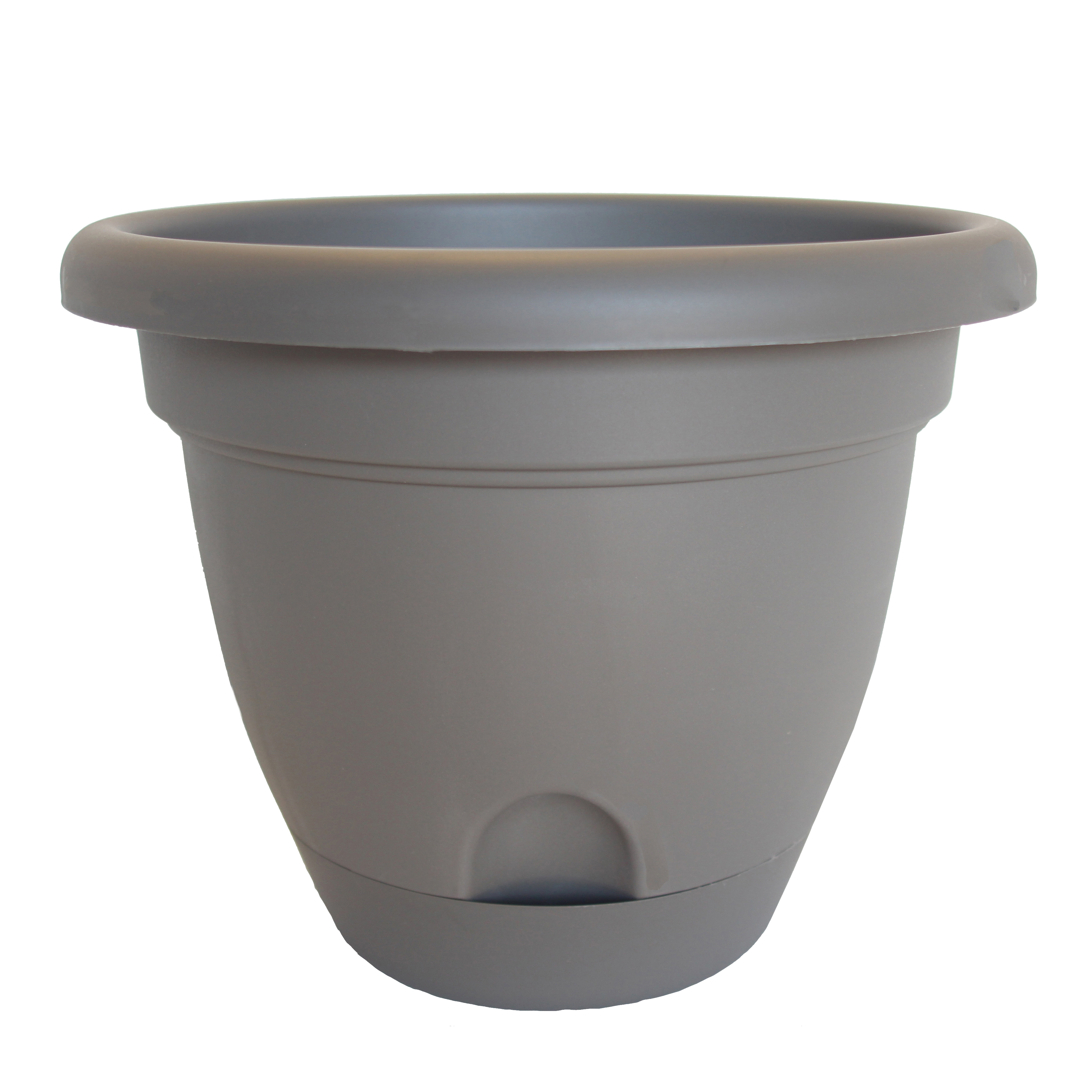 Picture of Bloem Lucca LP1260 Planter, 10.8 in W, Polypropylene, Peppercorn