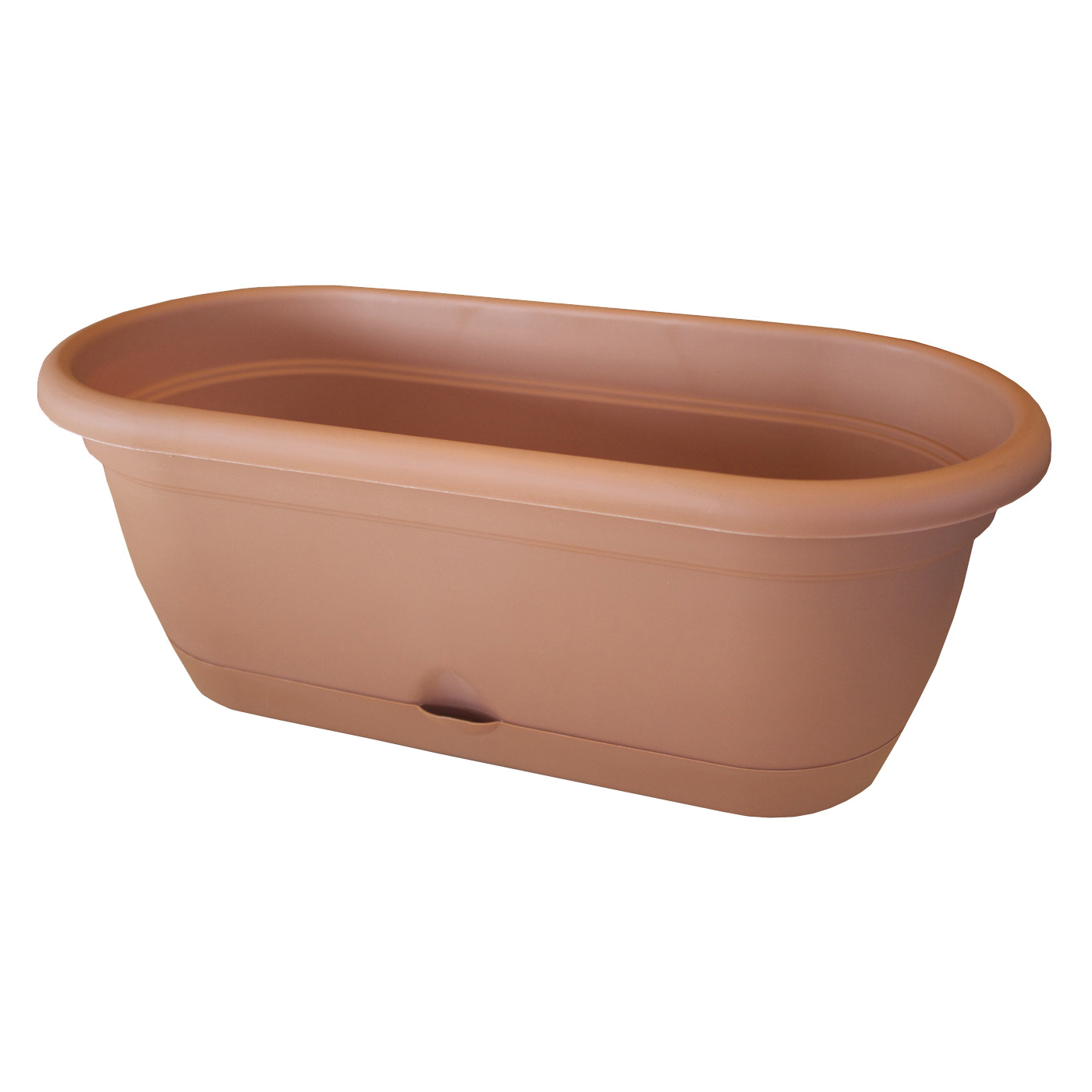 Picture of Bloem Lucca LWB1846 Window Box Planter, 7-1/2 in W, 9.13 in D, Box, Polypropylene, Terracotta