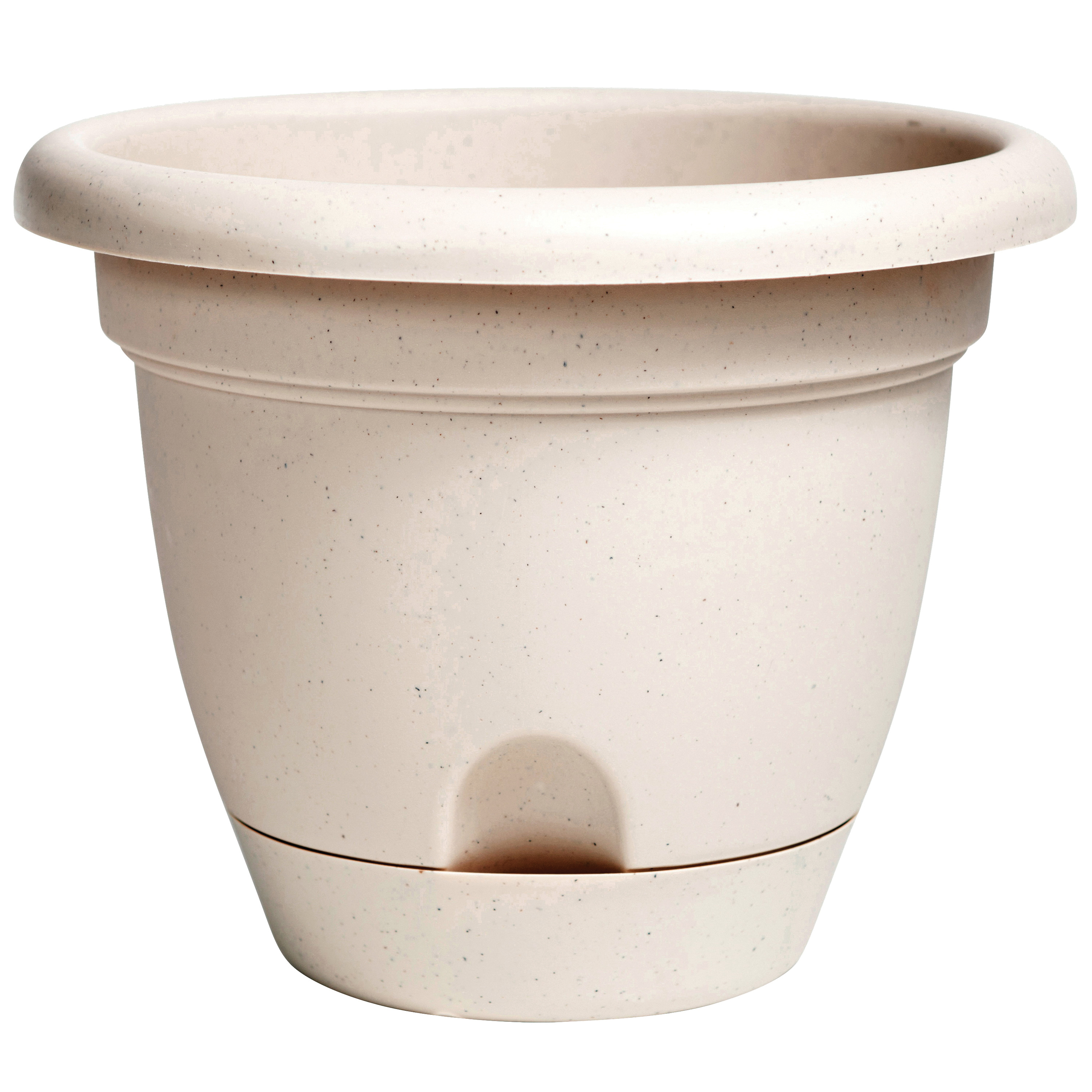 Picture of Bloem LP1035 Lucca Planter, 11 in W, Plastic, Taupe, Matte